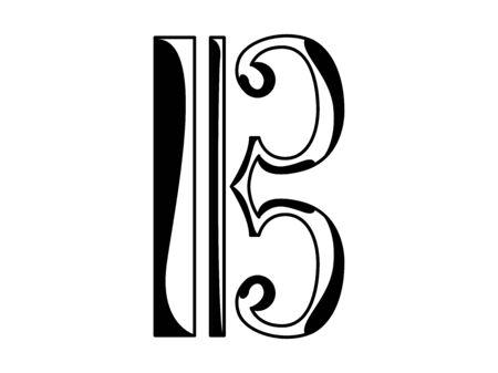 Alto and tenor clef icon. Musical note - Vector