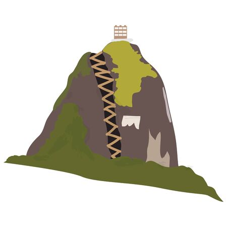 Isolated guatape mountain from Colombia - Vector illustration
