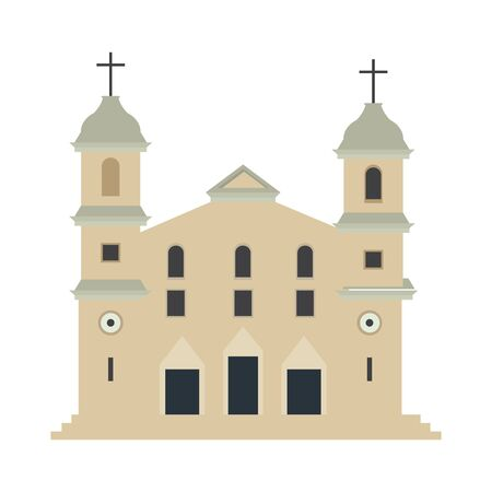 Isolated traditional church over a white background - Vector illustration