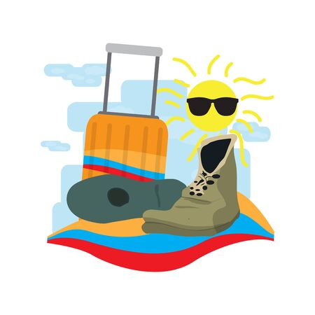 Travel to Colombia. Objects for travel - Vector illustration Иллюстрация