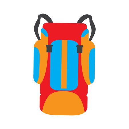 Isolated travel bag over a white background - Vector illustration