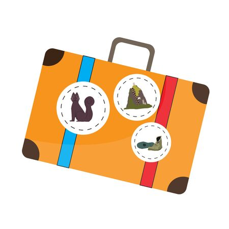 Isolated travel bag with stickers from Colombia - Vector illustration Иллюстрация