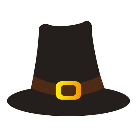 Pilgrim hat icon. Thanksgiving season - Vector illustration