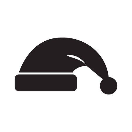 Isolated santa hat icon. Christmas season - Vector illustration