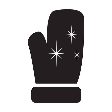 Isolated red santa glove icon - Vector illustration Ilustração