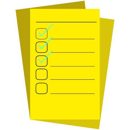 Check list paper. Todo list concept - Vector Vektoros illusztráció