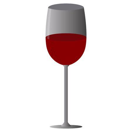 Wine glass image. Celebration concept - VEctor illustration Banque d'images - 137830968