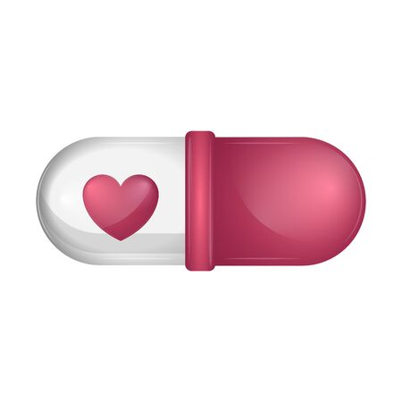 Love pill image. Valentines day - Vector illustration