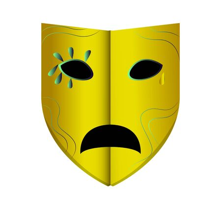 Isolated mardi gras theater mask icon - Vector Zdjęcie Seryjne - 138443799