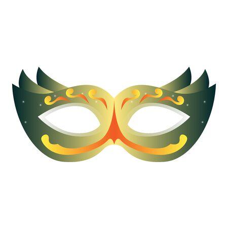 Isolated mardi gras theater mask icon - Vector Zdjęcie Seryjne - 138443843