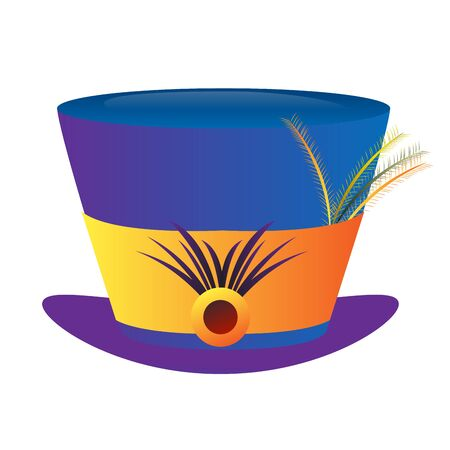 Isolated decorated hat for mardi gras - Vector Zdjęcie Seryjne - 138443845