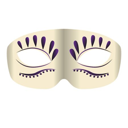 Isolated mardi gras theater mask icon - Vector Zdjęcie Seryjne - 138443846