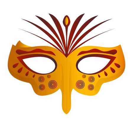 Isolated mardi gras theater mask icon - Vector Zdjęcie Seryjne - 138443848