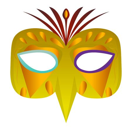 Isolated mardi gras theater mask icon - Vector