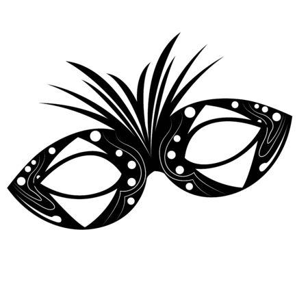 Isolated mardi gras theater mask silhouette- Vector Vektoros illusztráció