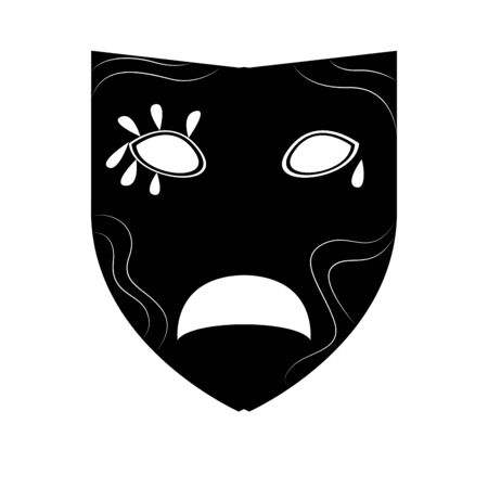 Isolated mardi gras theater mask silhouette- Vector
