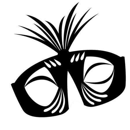Isolated mardi gras theater mask silhouette- Vector Zdjęcie Seryjne - 138443856