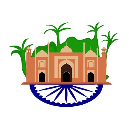 Famous place in india. Traditional indian building - Vector