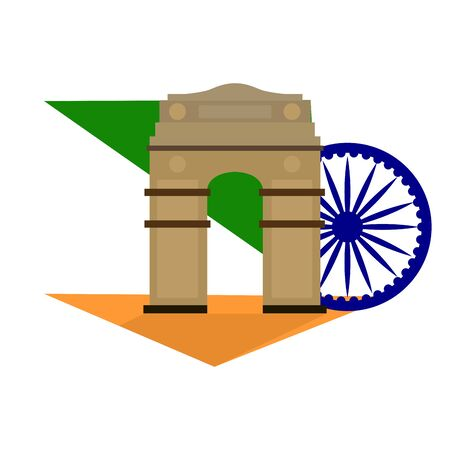 Famous place in india. India Gate- Vector 矢量图像