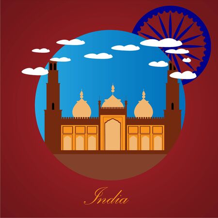 Famous place in india. Jama Masjid - Vector