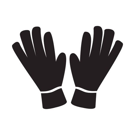 Isolated gloves image. Winter clothes image - Vector