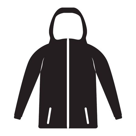 Isolated sweater image. Winter clothes icon - Vector