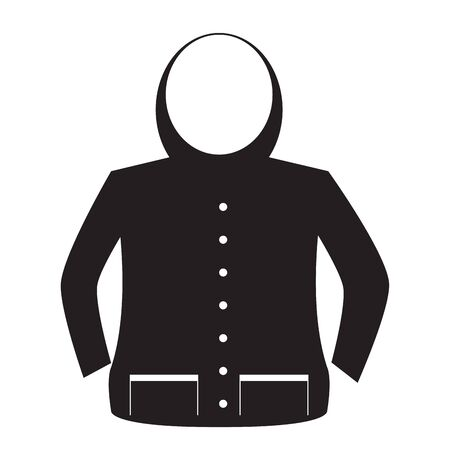 Isolated jacket image. Winter clothes icon - Vector Ilustracje wektorowe