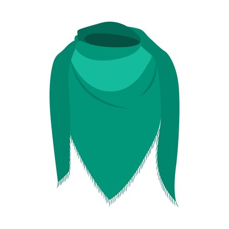 Isolated scarf image. Winter clothes icon - Vector