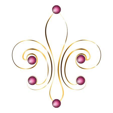 Isolated fleur de lys. Mardi gras - Vector