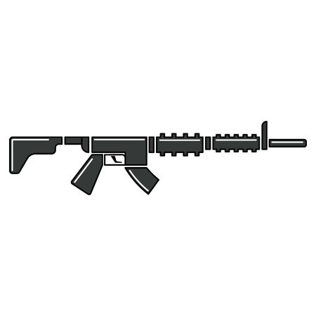 Isolated militay rifle icon. War icon - Vector