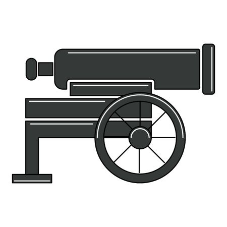 Isolated old war canon icon - Vector illustration