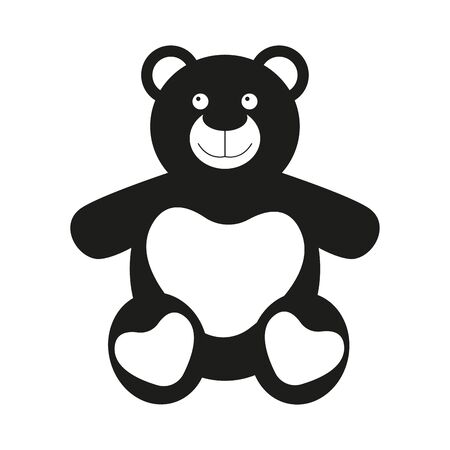 Isolated cute teddy bear. Valentines day - Vector illustration