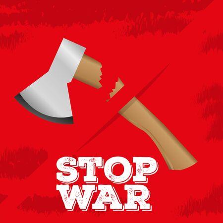 Stop war poster. Prottest concept - Vector Illustration