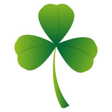 Isolated clover icon. Saint patricks day - Vector Ilustración de vector