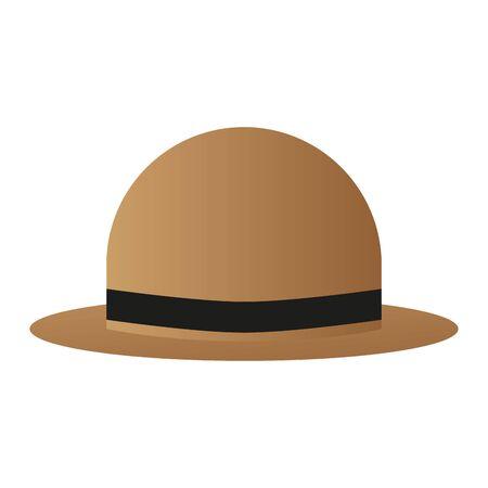 Isolated classic hat. Retro vintage clothes - Vector Ilustração
