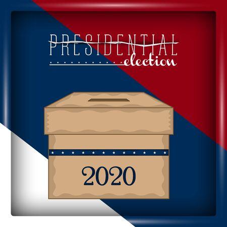 Ballot box in a presidential election poster - Vector illustration Vektorgrafik