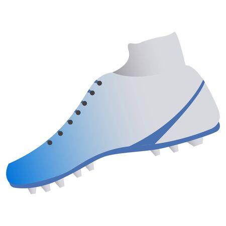 Isolated american football shoe. Sport uniform - Vector