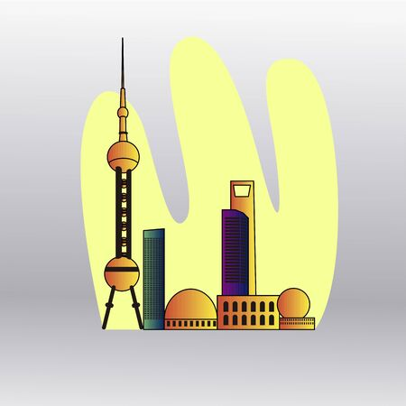 City skyline of Toronto - Vector illustration design