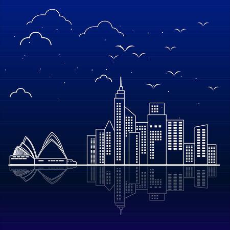 City skyline of sidney - Vector illustration design