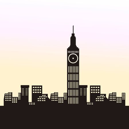 City skyline of London - Vector illustration design