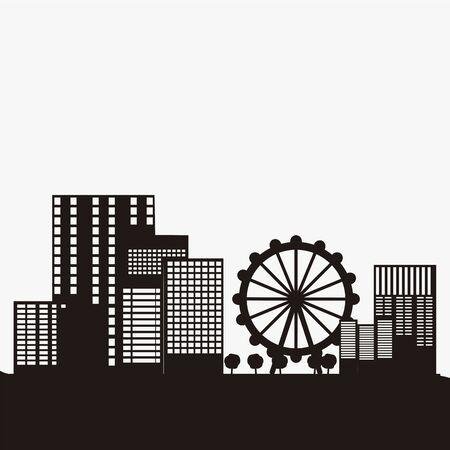 City skyline of London - Vector illustration design