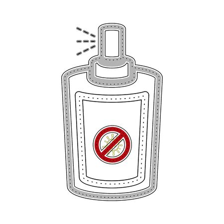 Isolated bottle spray icon to remove virus - Vector