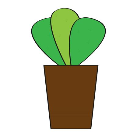 Isolated plant icon. Home decoration - Vector illustration Çizim