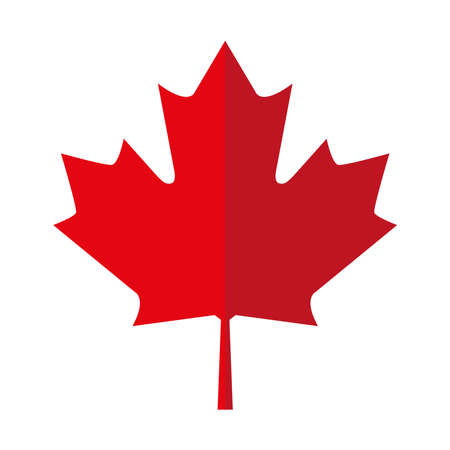Red maple leaf icon, Canadian symbol - Vector 矢量图片