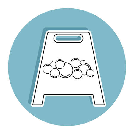 Isolated wet floor signal. Cleaning products icon - Vector