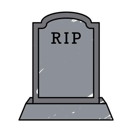 Isolated tombstone icon. Halloween season icon - Vector 矢量图像