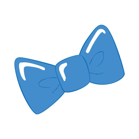 Isolated hipster trendy bowtie sketch
