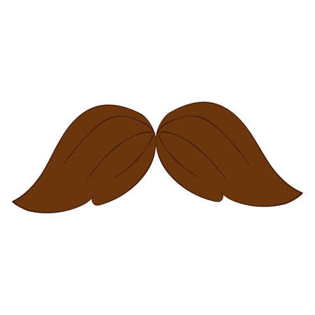 Isolated trendy hipster mustache sketch