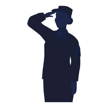 Silhouette of a US army woman