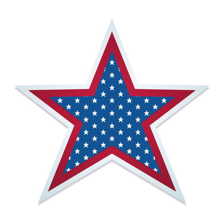 Isolated american star Flag of United States